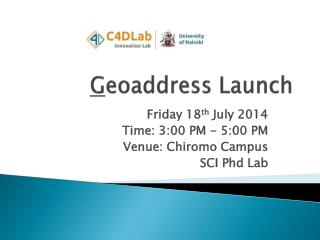 G eoaddress  Launch