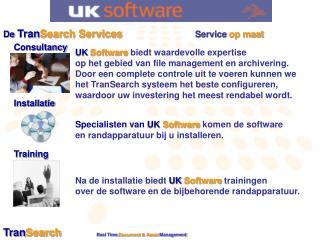 De  Tran Search Services       Service  op maat