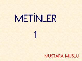 MET?NLER       1