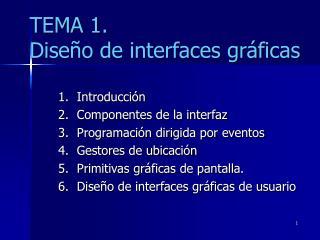 TEMA 1. Diseño de interfaces gráficas