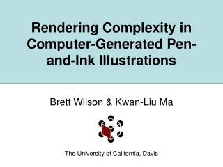 Rendering Complexity in Computer-Generated Pen-and-Ink Illustrations
