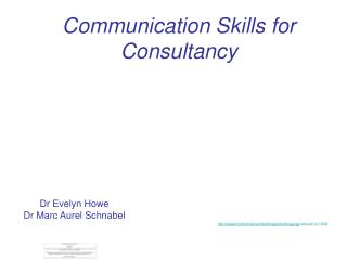 Communication Skills for Consultancy