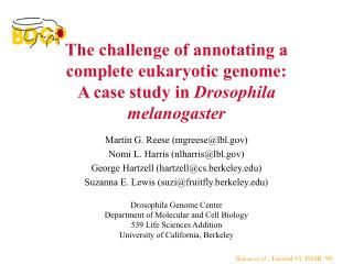 The challenge of annotating a complete eukaryotic genome: A case study in Drosophila melanogaster