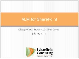ALM for SharePoint