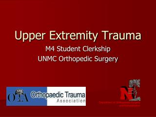 Upper Extremity Trauma