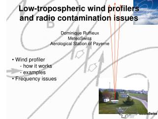 Low-tropospheric wind profilers and radio contamination issues