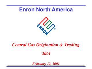 Central Gas Origination & Trading  2001
