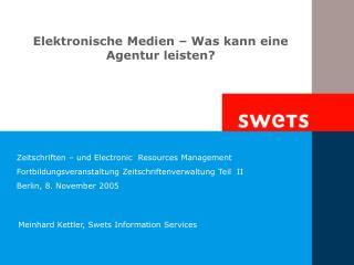 Elektronische Medien – Was kann eine Agentur leisten?