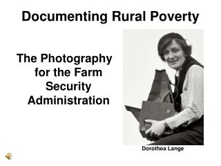 Documenting Rural Poverty