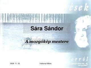 Sára Sándor