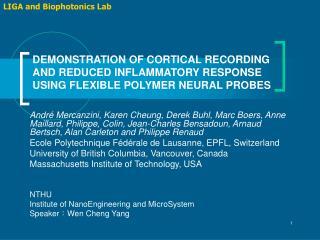 LIGA and Biophotonics Lab
