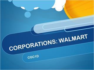CORPORATIONS: WALMART