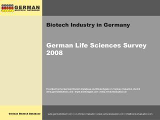 Biotech Industry in Germany
