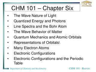 CHM 101 – Chapter Six