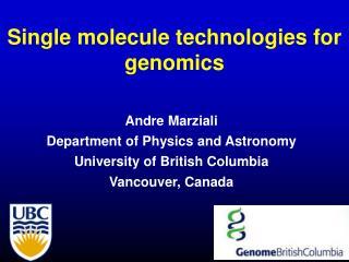 Single molecule technologies for genomics