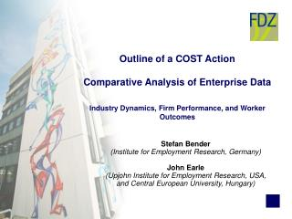 Outline of a COST Action Comparative Analysis of Enterprise Data