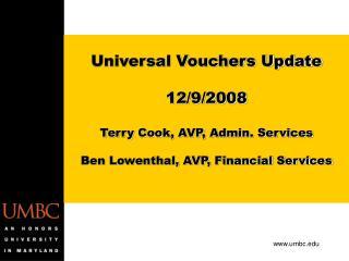 Universal Vouchers Update  12