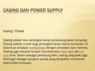 CASING DAN POWER SUPPLY