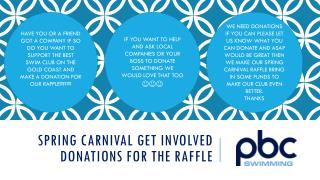 Spring carnival get involved DONATIONS FOR THE RAFFLE
