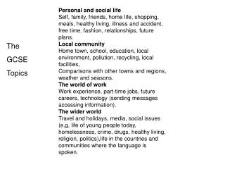 Personal and social life