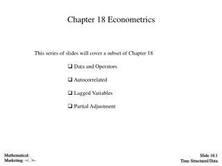 Chapter 18 Econometrics