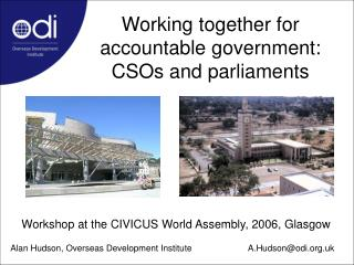Working together for accountable government: CSOs and parliaments
