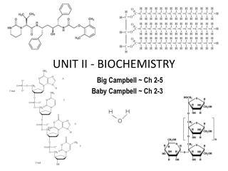 UNIT II - BIOCHEMISTRY