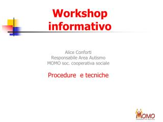 Workshop informativo