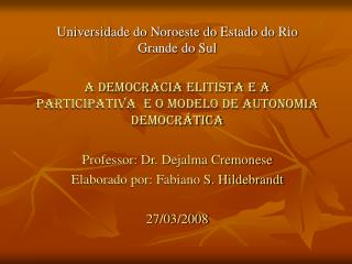Universidade do Noroeste do Estado do Rio Grande do Sul