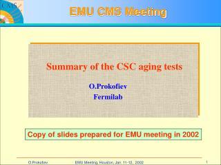 EMU CMS Meeting