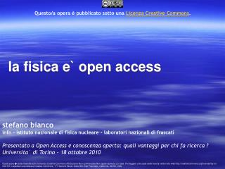 la fisica e` open access