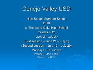 Conejo Valley USD