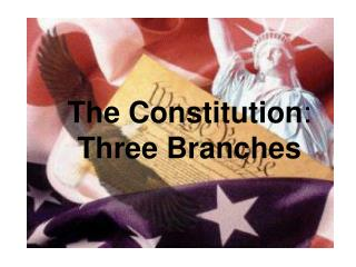 The Constitution : Three Branches