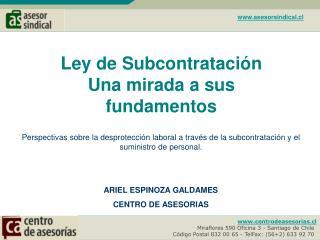 Centrodeasesorias.cl  Miraflores 590 Oficina 3 - Santiago de Chile- C digo Postal 832 00 65 - TelFax: 562 633 92 70-