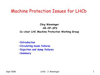 Machine Protection Issues for  LHCb