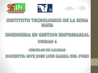 INSTITUTO TECNOLOGICO DE LA ZONA MAYA INGENIERIA EN GESTION EMPRESARIAL UNIDAD 4