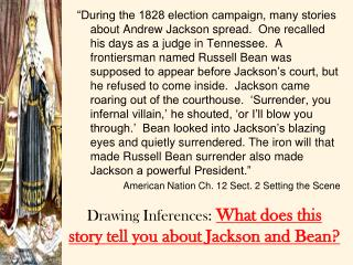 Drawing Inferences:  What does this story tell you about Jackson and Bean?