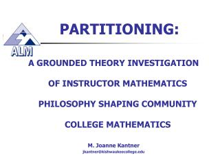 PARTITIONING: