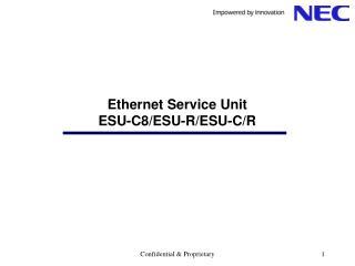 Ethernet Service Unit ESU-C8/ESU-R/ESU-C/R