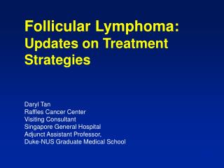 Grade 1-2 Follicular Lymphoma