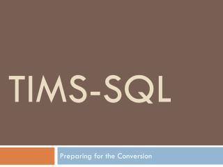 TIMS-SQL