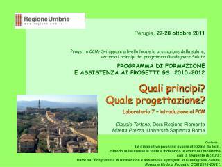 Perugia,  27-28 ottobre 2011
