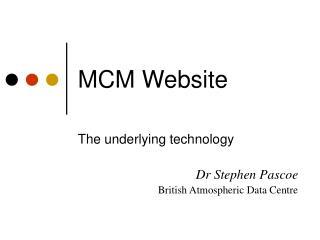 MCM Website