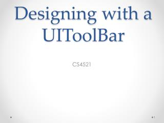Designing with a UIToolBar