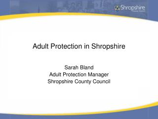 Adult Protection in Shropshire