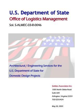 U.S. Department of State Office of Logistics Management Sol. S-ALMEC-03-R-0046