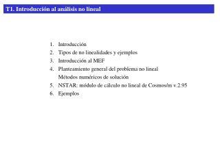 T1. Introducción al análisis no lineal