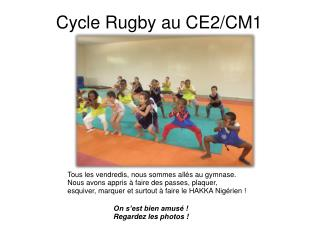 Cycle Rugby au CE2/CM1
