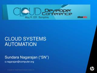 Cloud Systems automation