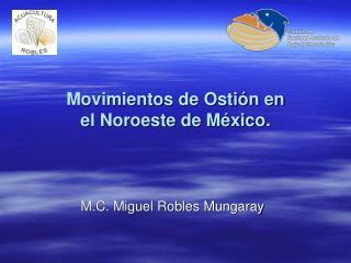 Movimientos de Ostión en el Noroeste de México.